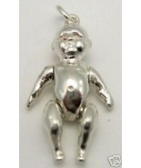 STERLING SILVER BEAUTIFUL BABY LARGE CHARM MOVING LIMBS - $42.35