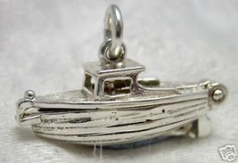 British Welded Bliss Sterling 925 Silver Charm, Cabin Boat Opens - €31,48 EUR