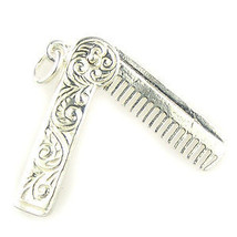 British Sterling 925 Silver Charm by Welded Bliss Comb in Engraved Case ... - €25,19 EUR