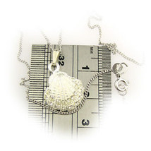 Sterlling 925 Silver Cz Gem Set Shell Pendant + Chain by Welded Bliss - $15.11