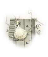 Sterlling 925 Silver Cz Gem Set Shell Pendant + Chain by Welded Bliss - $15.11