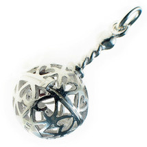 Baby Rattle Bracelet Charm by Welded Bliss British Sterling 925 Silver. - $39.33