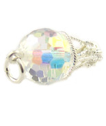 Sterling 925 Silver British Charm by Welded Bliss Balloon Swarovski Crystal - $18.15