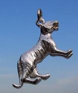 Sterling 925 Silver 'Big Cat' Heavy Charm Stripy Tiger - $33.28
