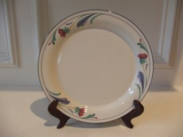 "Lenox China Chinastone Poppies on Blue Dinner Plate 10 3/4"" (1) - $12.86"
