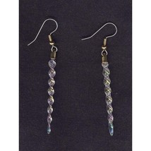 Pretty Mini ICICLES EARRINGS-Winter Holiday Ornament Charm Funky Costume... - $7.99