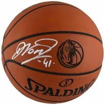 Dirk Nowitzki Mavericks Signed Spalding Laser Engraved Game Basketball Fanatics. - $544.50