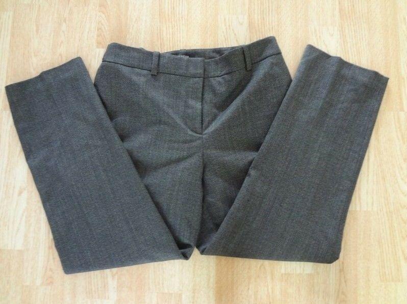 Women's Ann Taylor Sz 8 Business Dress Pants Charcoal Grey W/ White Specks - $11.29
