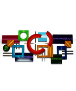 Large Contemporary Modern Geometric Color Rush Abstract Art Wood Wall Sc... - $449.99