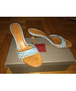 Cole Haan Glam Turquoise And Camel Slide Mule S... - $32.99