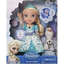Disney Frozen Snow Glow Elsa Doll Singing 15 Phrases Snowman Olaf Magical Girls - $35.99
