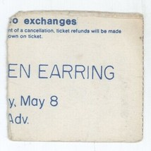 RARE Golden Earring 5/8/84 Poughkeepsie NY The Chance Concert Ticket Stub! - $9.89