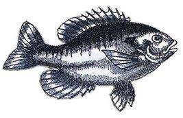 Nature's Bounty Beautiful Custom Fish Sketch[Bluegill Fish ] Embroidered... - $5.93