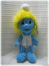 NEW Build a Bear Workshop Plush Smurfette Smurf Girl Doll 16 inch Unstuf... - $12.34
