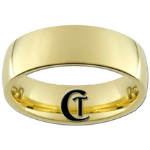 7mm Gold Tungsten Carbide Band Dome Ring Sizes 5-15 - $39.00