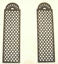 2 Antique Bronze Wall Hang Bed panels Decor Plaques Placca Ornaments Italy 1890 image 1