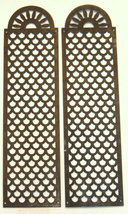 2 Antique Bronze Wall Hang Bed panels Decor Plaques Placca Ornaments Italy 1890 image 2
