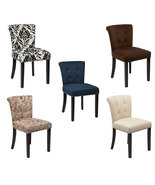 Ave Six KENDAL Fabric Tufted Back Armless Accent Dining Chair Wood Legs - $109.00