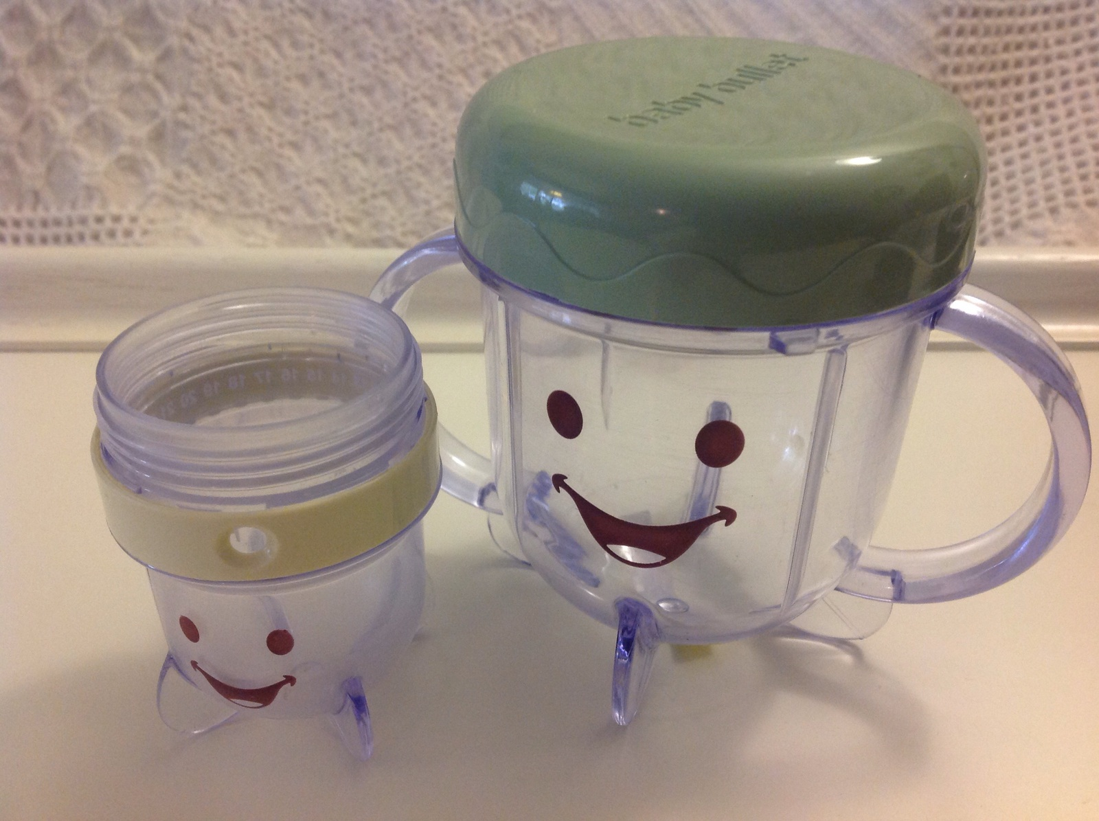 Baby Bullet Sippy Cup w/Storage lid & 1- Date Dial Cup w/o lid