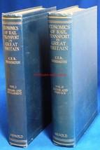 Book~Economics of Rail Transport in Great Britain~Vol 1 & 2~1928~Sherrin... - $18.00