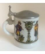Vintage Miniature Stein Rein-Zinn BMF Germany Signed Porcelain  - $12.59