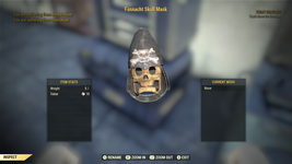 Fallout 76 (PC) Fasnacht Skull Mask - $6.43 CAD