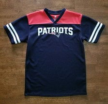 NFL New England Patriots Football Jersey Size Youth Medium 10-12 Blue Re... - $12.99