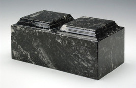 EBONY MARBLE-COMPANION-FUNERAL URN-CREMATION-URN - $185.00