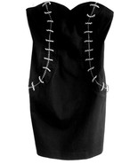 Reiss Strapless bustier dress Black Cotton US 8... - $59.99