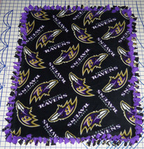 "Baltimore Ravens Baby Blanket Fleece Pet Lap Purple Black 30"" x 24"" NFL ... - $36.95+"