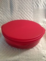 Tupperware Red Round Lid Holder 4484B Set includes 5 Lids - $29.55