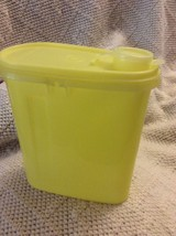 Vintage Tupperware Yellow 2 Qt Beverage Buddy Oval Pitcher w/o handle - $19.35