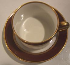Fitz & Floyd Renaissance Cinnabar Cup & Saucer - $11.33