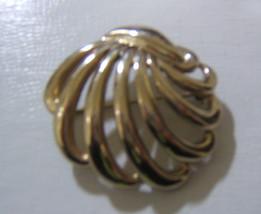 "Monet  Gold Tone Plume  Brooch Pin 2"" - $9.83"