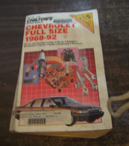 Chilton's Chevrolet Full Size 1968-92  Automotive  Repair Manual - $6.32