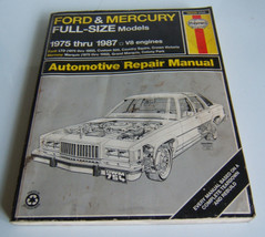 Haynes Ford & Mercury Full Size Models 1975-1987 Automotive  Repair Manual - $6.32