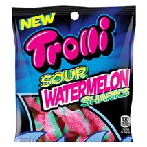 TROLLI Sour Watermelon SHARKS 7 LBs Bag Gummi Packaged Candy New Gummi C... - $49.99