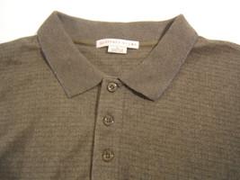 Geoffrey Beene Polo Long Sleeve Sweater  XL Sage Green Three Button 100%... - $16.33