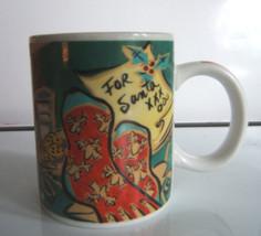 Starbucks Home for the Holidays For Santa Xmas Coffee Mug 12 oz Mary Graves - $15.64