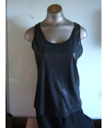 by Chico's Black Sequined  Sleeveless  Knit  Tank Top  size 0 - $11.72
