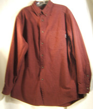 Woolrich Mens Dark Wine Red 100% Cotton Flannel Casual Shirt Size L - $16.67