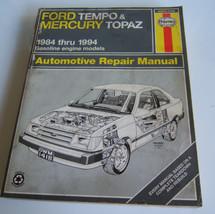 Haynes Ford Tempo & Mercury Topaz 1984-1994  Automotive  Repair Manual - $6.32
