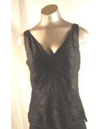 Alfani Womens  Black Lace  Tank Top Size 4 Lined Sleeveless - $11.72