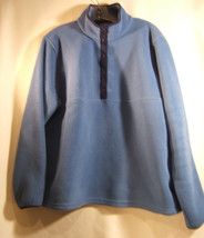 L.L.Bean  Blue Fleece Polartec Mens Pullover Jacket  Size L reg - $19.37