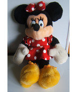 "Disney Minnie Mouse Plush Doll Stuffed Toy 14"" Mickey for Kids Red Dress - $12.17"