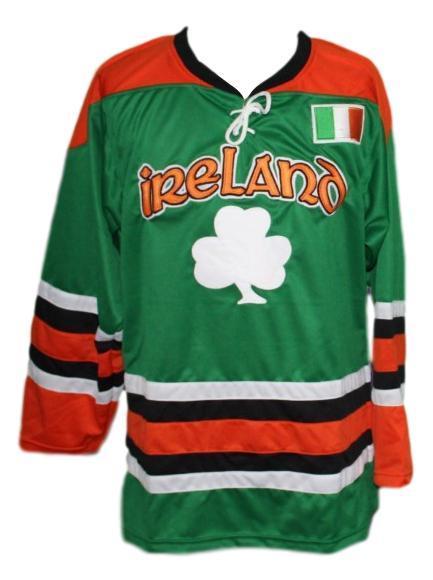 Custom name   team ireland hockey jersey lucky 7 green   1