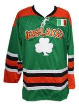 Any Name Number Ireland Retro Hockey Jersey New Green Lucky 7 Any Size image 1