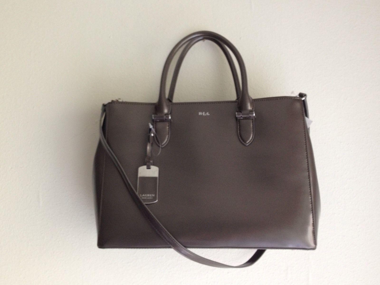 deaea8272a03 57. 57. Previous. NWOT  298 Ralph Lauren Handbag Newbury Double Zip Satchel  Leather - Dark Gray · NWOT  298 Ralph Lauren ...