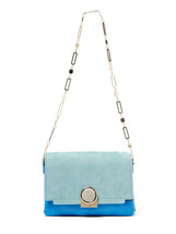 NWT Pour la Victoire  Bijou Chain Shoulder Bag, Powder Aqua,  $375 - $3.602,33 MXN