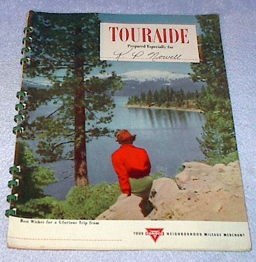 Primary image for Vintage Conoco Oil Touraide Travel Maps Routing Attractions 1948